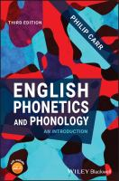 English phonetics and phonology : an introduction